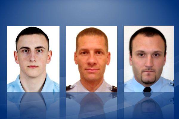 Trois militaires ont été tués par un forcené à Saint-Just dans le Puy-de-Dôme. De gauche à droite : le brigadier Arno MAVEL, 21 ans, PSIG d'AMBERT (peloton de surveillance et d'intervention), le lieutenant Cyrille MOREL, 45 ans, commandant en second de la compagnie de gendarmerie d'AMBERT, l'adjudant Rémi DUPUIS, 37 ans COB d'AMBERT (communauté de brigades).