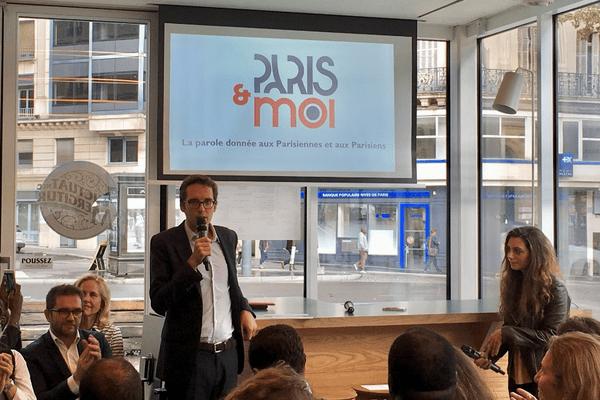 Pacôme Rupin, à la tête du comité de pilotage du mouvement Paris&moi, lancé dans un café parisien le 21 septembre 2018.