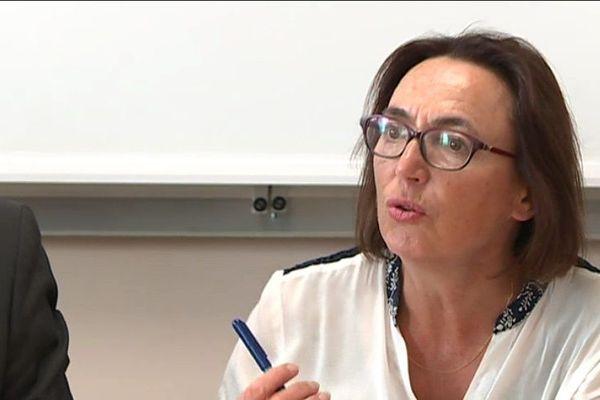 Marie-Claire Dourion est l'actuelle maire centriste de Saint-Brieuc -