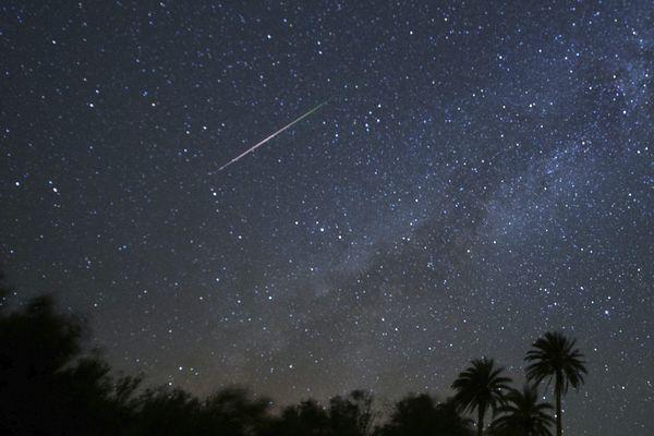 Exemple d'étoile filante dans le ciel espagnol en août 2016