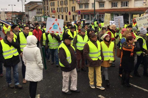 Manifestation de Gilets jaunes à Saint-Junien, le 13/01/2019