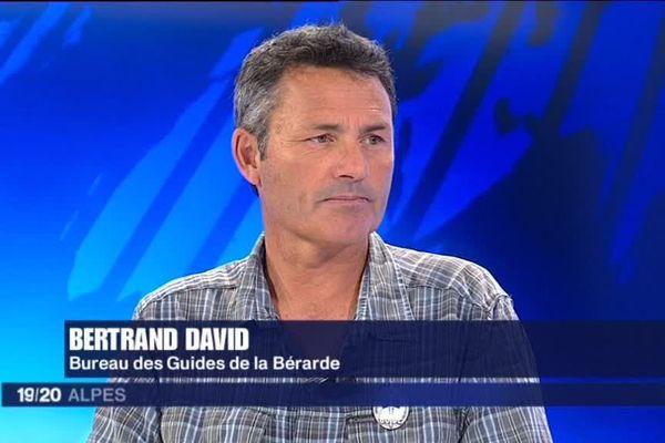 Bertrand David sur le plateau de France 3 Alpes en juin 2014.