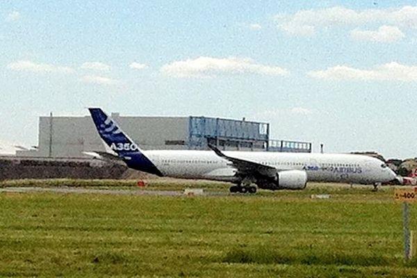 Premiers essais de roulage ce mardi pour l'A350