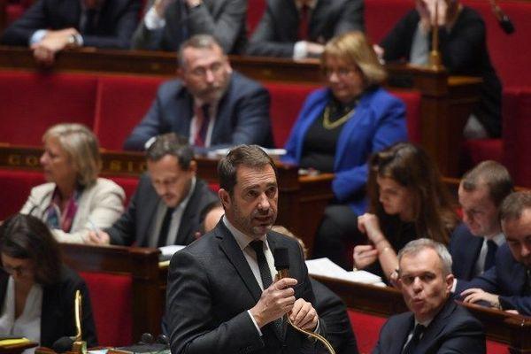 Le ministre de l'Intérieur Christophe Castaner lors d'une session de questions au gouvernement.