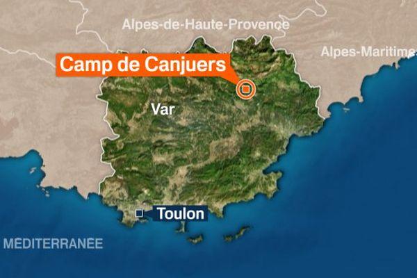 Le camp de Canjuers est basé sur la commune de Montferrat.