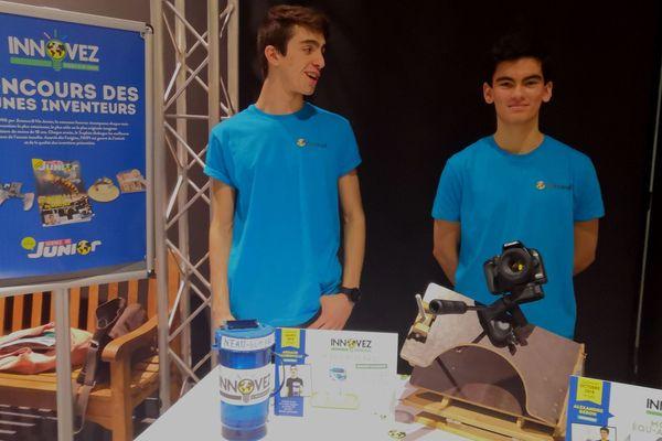 Arnaud et Alexandre, lauréats du concours Innovez Science et Vie Junior.