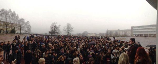 500 jeunes réunis au Lycée Général et Technologique Alfred Mézières de Longwy.