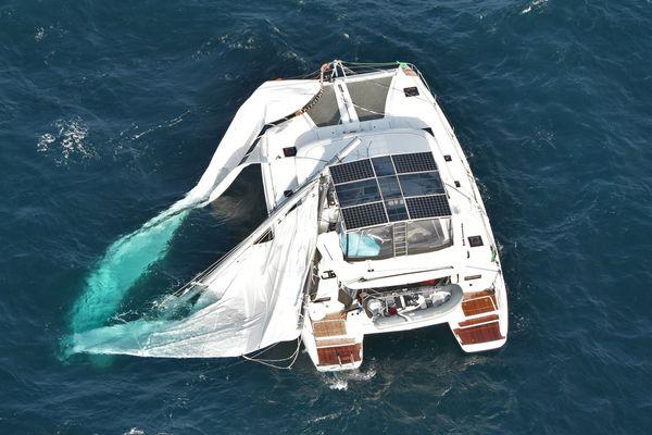 """Le """"Karioca 2"""" en détresse à plus de 40 kilomètres au large des côtes de Seine-Maritime"""