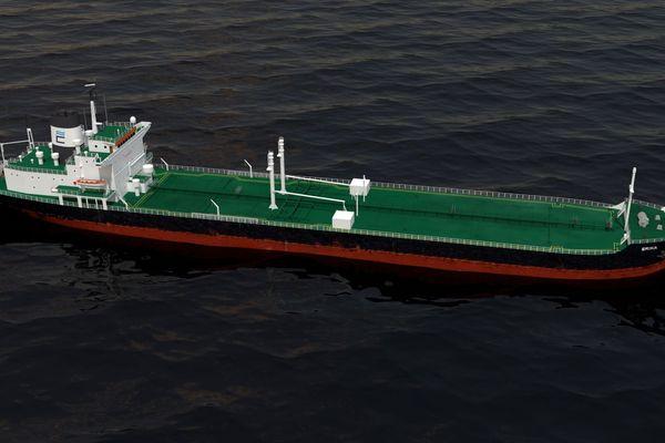 Une modélisation du pétrolier Erika qui a sombré au large de la Bretagne en décembre 1999