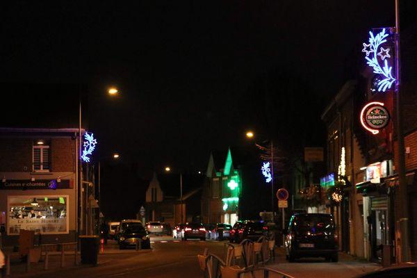 A Loos-en-Gohelle, pas d'extravagance dans les illuminations de Noël.