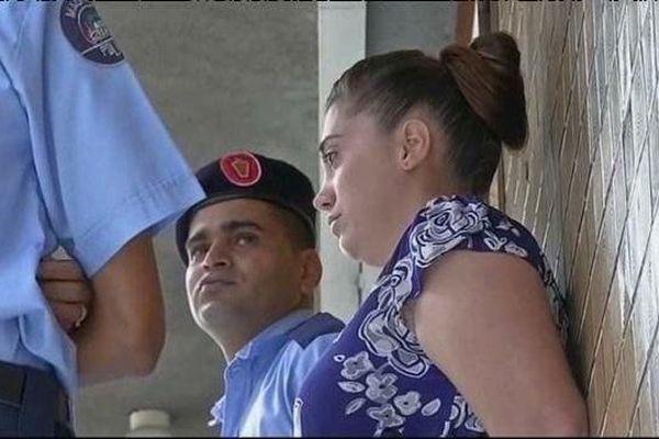 Aurore, en novembre dernier lors de son procès, à Port-Louis, Ile Maurice.
