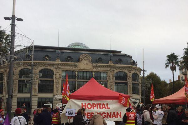 A Perpignan, la mobilisation des professionnels de santé est très faible