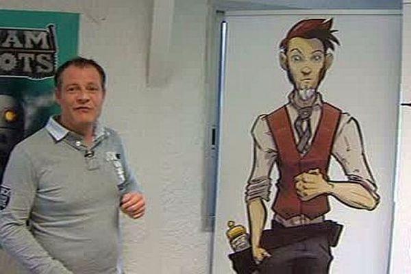 Perpignan - Stéphane Desrumeaux, créateur de jeux vidéo et l'un de ses personages