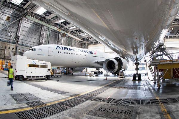 Un Boeing en maintenance à Roissy (illustration).