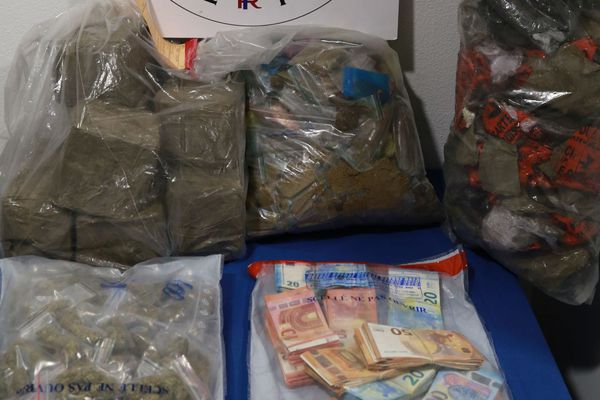 46 kilos de résine de cannabis et plus de 16 000 euros en liquide ont été saisis.