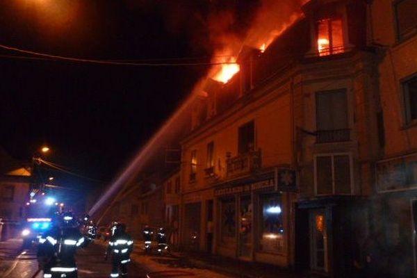 Les secours de l'incendie de Ronchamp