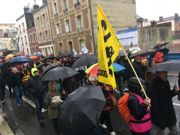 le cortège des manifestants au Havre