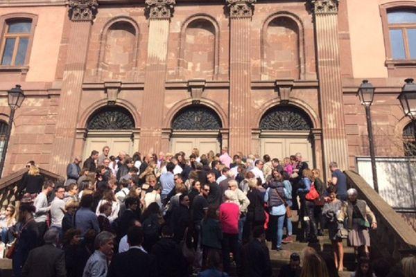 Le public venu assister au procès Mosser à la Cour d'Assises du Haut-Rhin