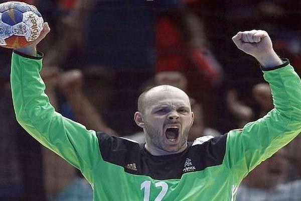 Le gardien de l'équipe de France de handball et de Montpellier, Vincent Gérard - 2018.