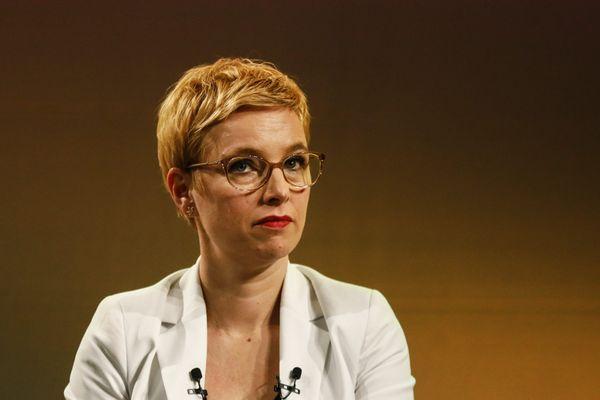 Clémentine Autain, candidate de La France Insoumise aux élections régionales d'Ile-de-France, en février 2021.