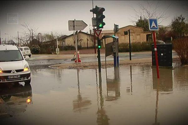 Saint-Louis-de-Montferrand, lors des inondations de la tempête Xynthia, le 1er mars 2010.
