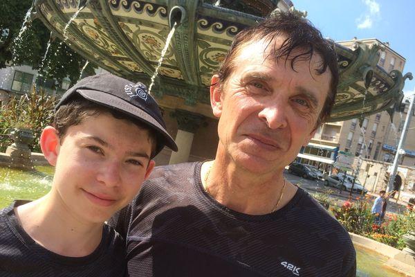 Hakaroa et son père sont partis de Dunkerque le 2 juillet 2018 pour parcourir 2004 kilomètres.