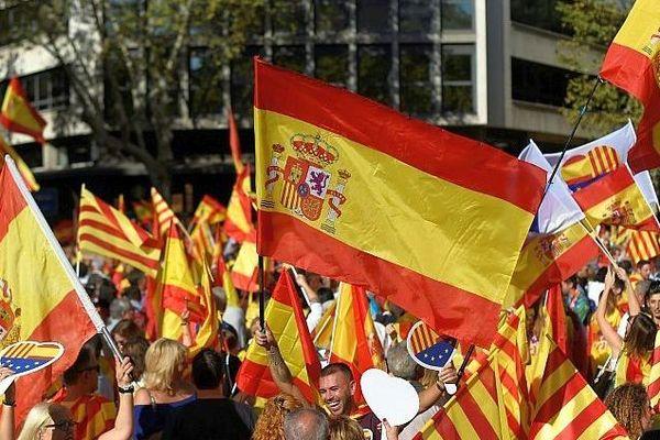 Barcelone (Espagne) - manifestation des Catalans anti-indépendantistes - octobre 2019.