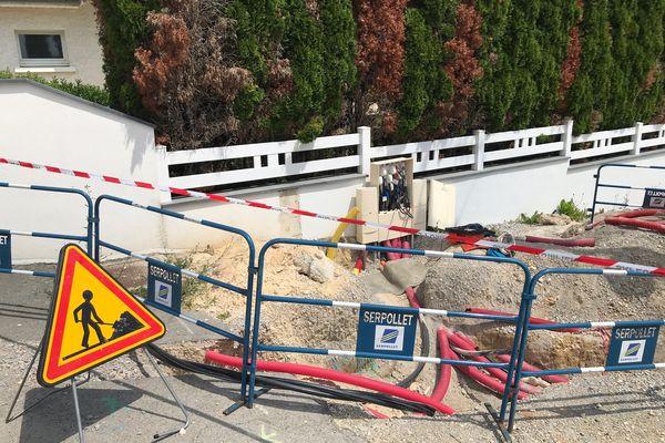 L'accident électrique est arrivé en cours de chantier, à Grandfontaine (Doubs)
