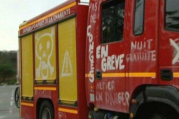 Les pompiers en grève le font savoir
