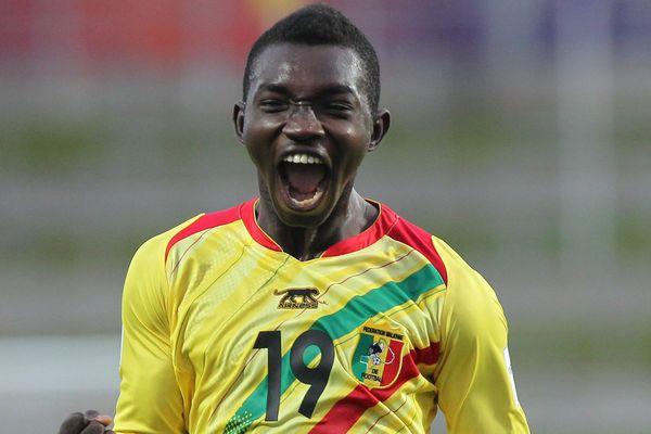 Le Malien Adama Traoré, joueur du LOSC, lors du match contre l'Uruguay le 6 juin 2015 en Nouvelle-Zélande
