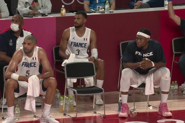 Timothé Luwawu-Cabarrot (n°3) a participé à l'exploit de l'équipe de France de basket face aux USA