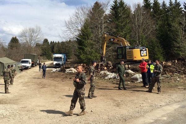 Les militaires sont sur place à Mignovillard.