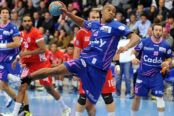 Sylvain Hochet, ailier gauche de l'équipe de Cesson Rennes Métropole HB