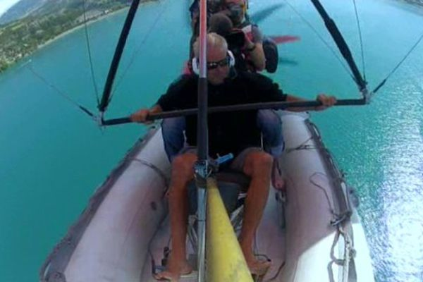 A bord d'un hydro-ULM