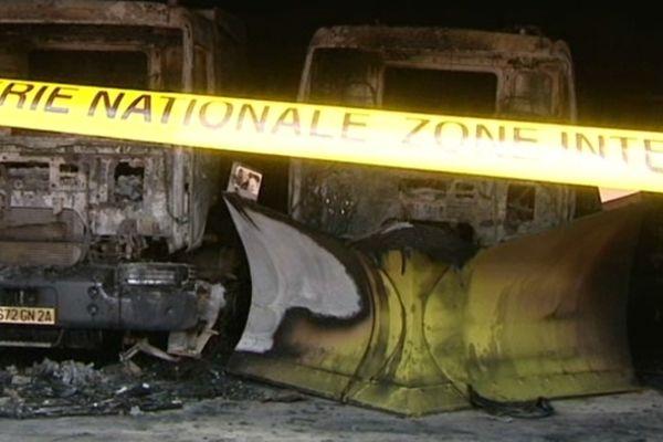 Evisa, l'entrepôt  détruit