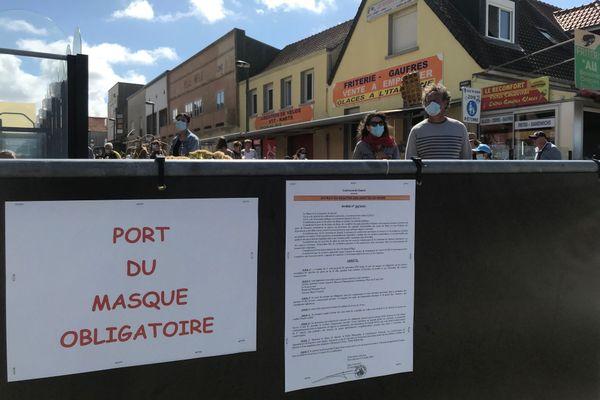 Depuis le samedi 1er août, le port du masque est obligatoire dans plusieurs zones de Quend-Plage.