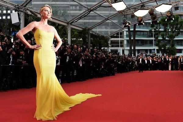 L'actrice sud-africaine Charlize Theron au Festival de Cannes 2015