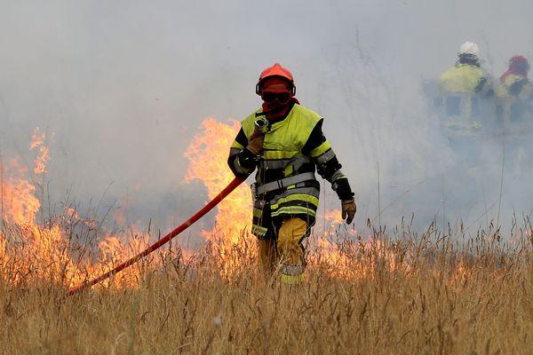 Illustration. Dans les Bouches-du-Rhône, 500 pompiers sont opérationnels toute l'année pour lutter contre les feux de forêt. L'été, 550 pompiers supplémentaires renforcent le dispositif.