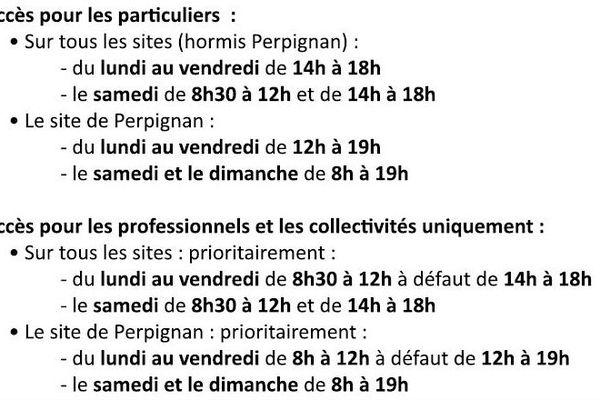Les horaires de réouverture des déchetteries de Perpignan Métropole