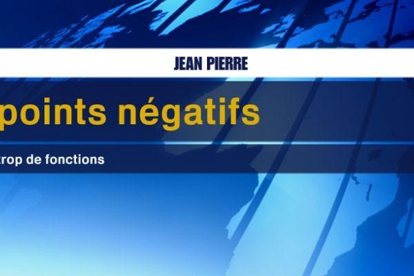Les points négatifs de Jean-Pierre