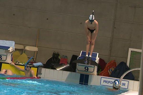 Léan a commencé la nage en monopalme à l'âge de 9 ans / Montpellier le 9 décembre 2017