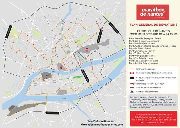 Les épreuves du marathon de Nantes perturberont la circulation dans Nantes