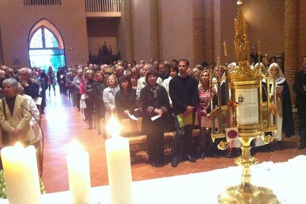 Les reliques dans l'église de Balma
