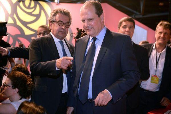 Jean-Christophe Cambadélis, premier secrétaire du PS et Alain Claeys à l'ouverture du congrès de Poitiers.