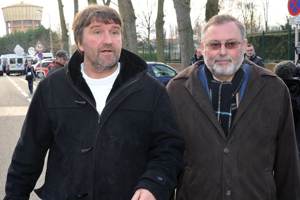 Eric Vercoutre (à gauche) et Didier Cappelle (à droite), en janvier 2012.