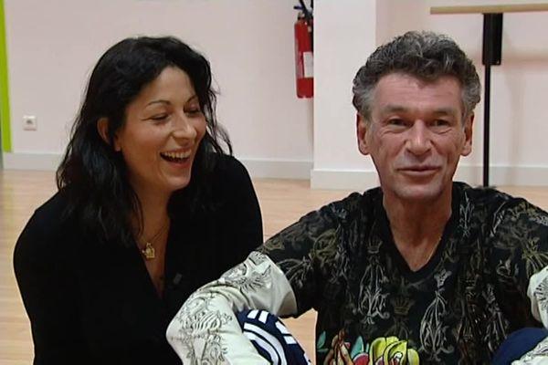Dans l'Aisne en 2010, Patrick Dupond et sa compagne Leïla Da Rocha, un amour commun pour la danse.