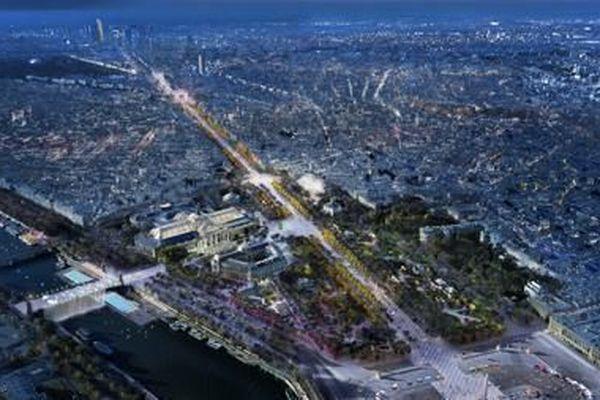 Champs-Elysées de nuit
