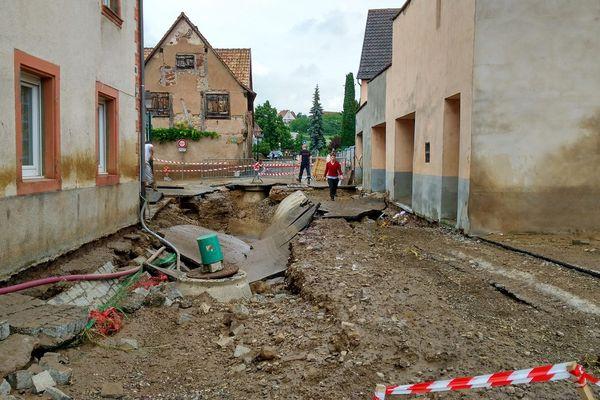 Wasselonne - Dégats suite aux intempéries du 7 juin 2016