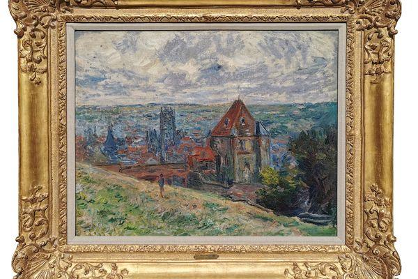 Le tableau représentant la ville de Dieppe a été peint par Claude Monet en 1882.