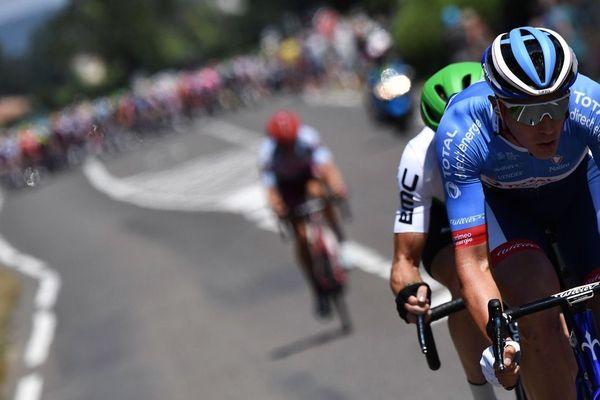 Le Néerlandais Niki Terpstra lors de la 8e étape du Tour de France entre Mâcon et Saint-Etienne samedi 13 juillet 2019